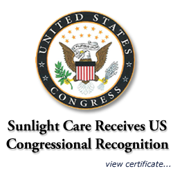 Sunlight Care Receives United States Congressional Recognition